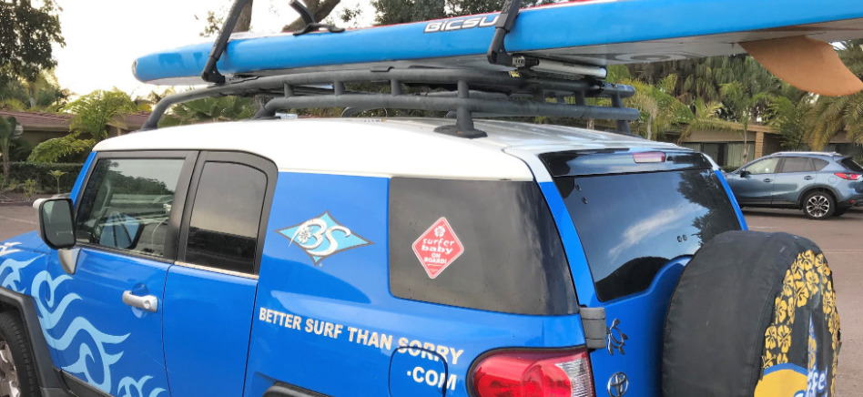 New from Lockrack USA. Surfboard, paddleboard and kayak strapless roof rack