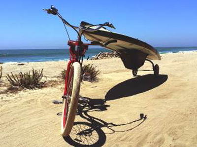 The Wheele Sup Standup Paddle Board And Surfboard Bike Trailer